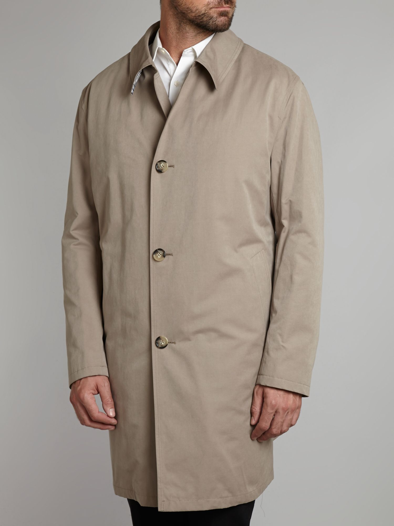 Classic button through raincoat