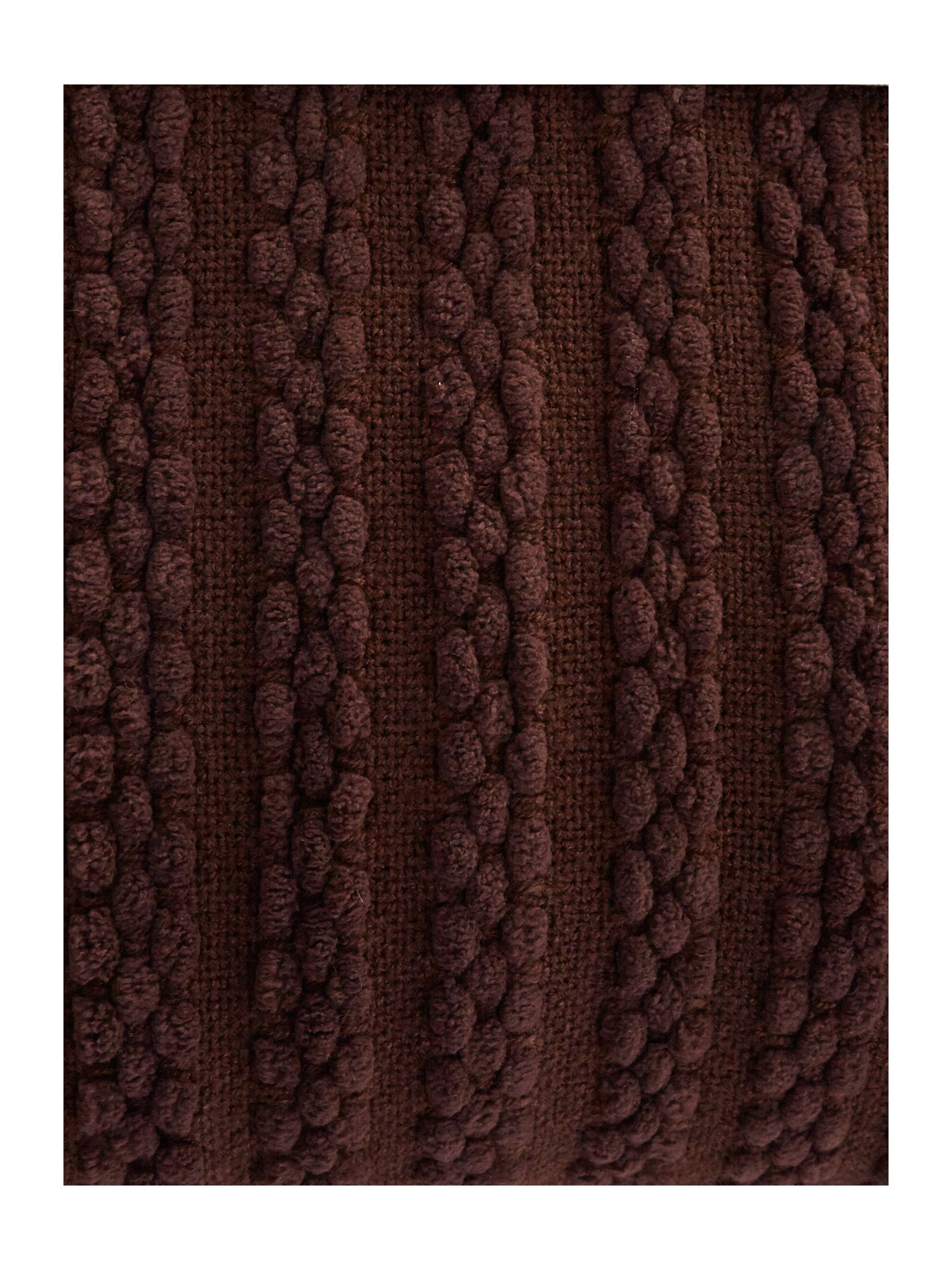Chocolate paw stitch chenille throw