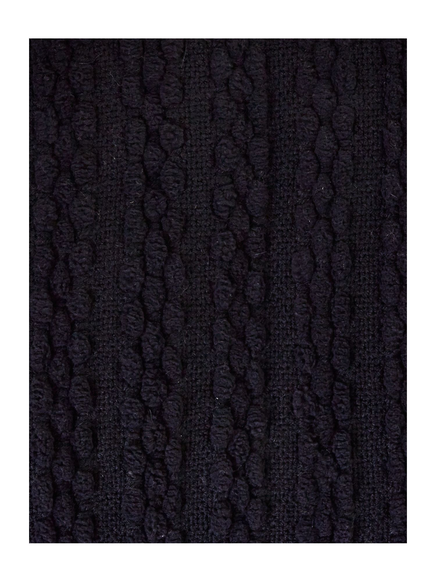 Black paw stitch chenille throw