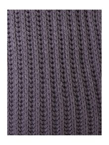 Grey knit throw