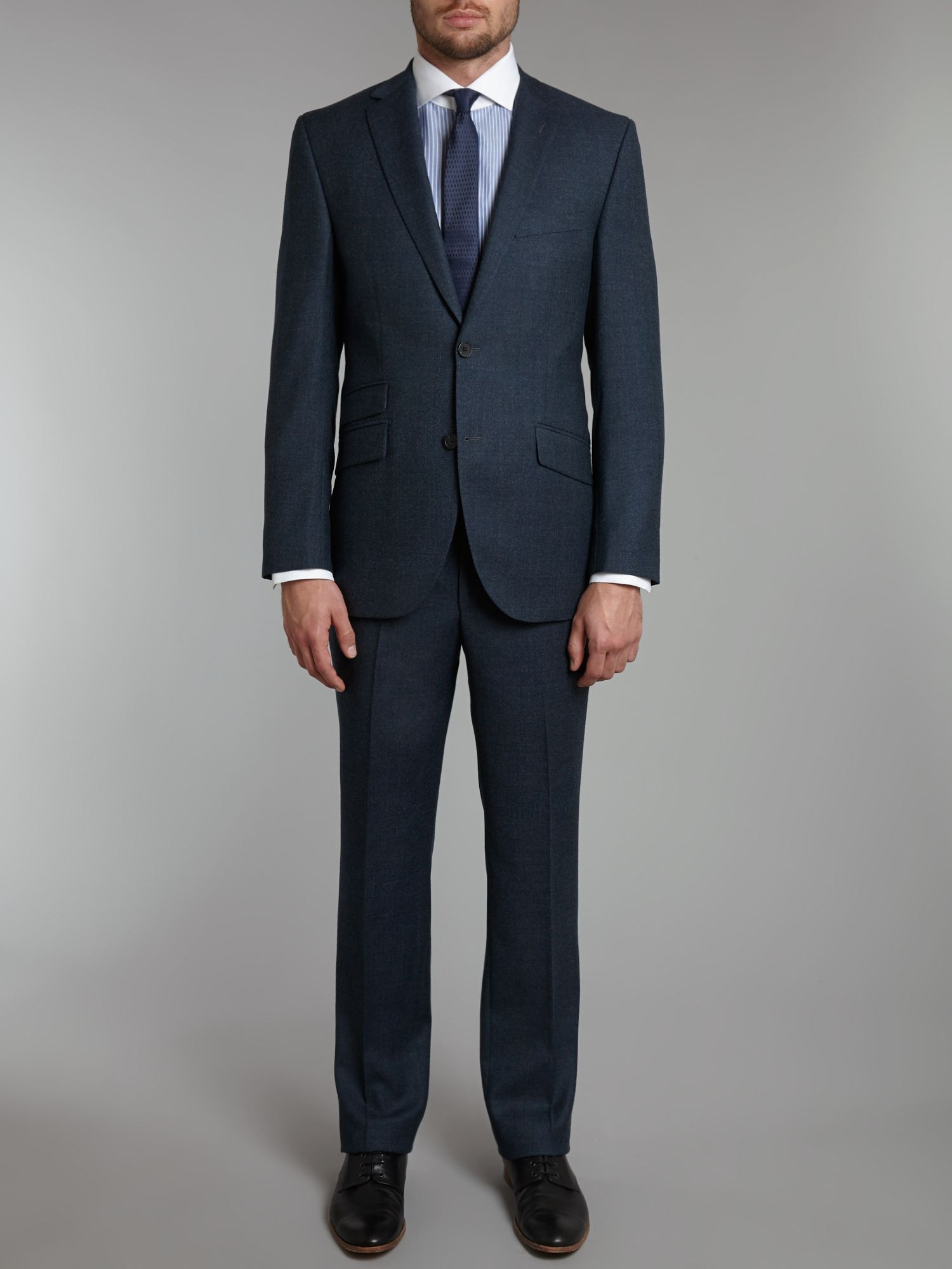 Randolph melange regular fit suit