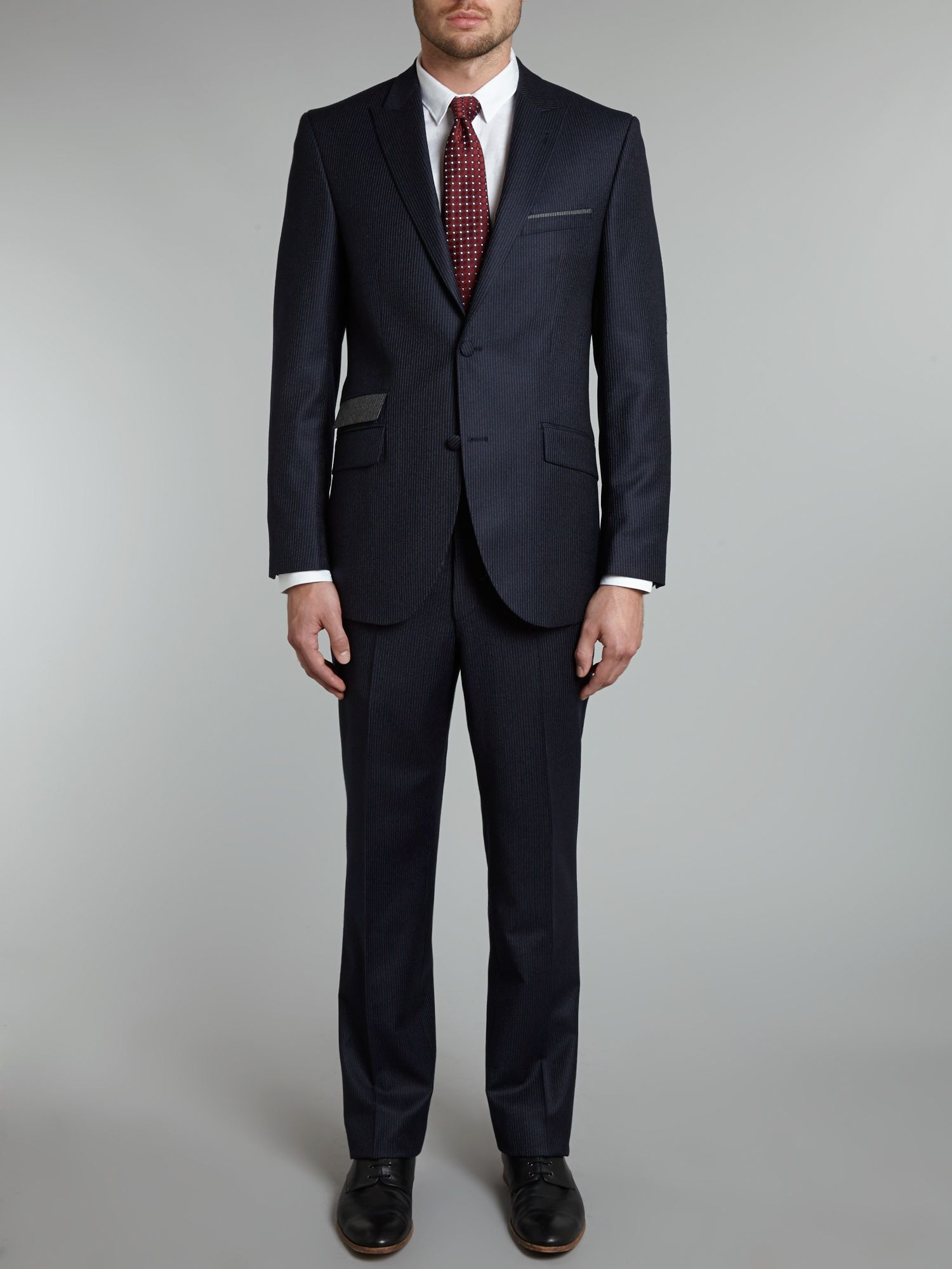 Anson tonal stripe regular fit suit