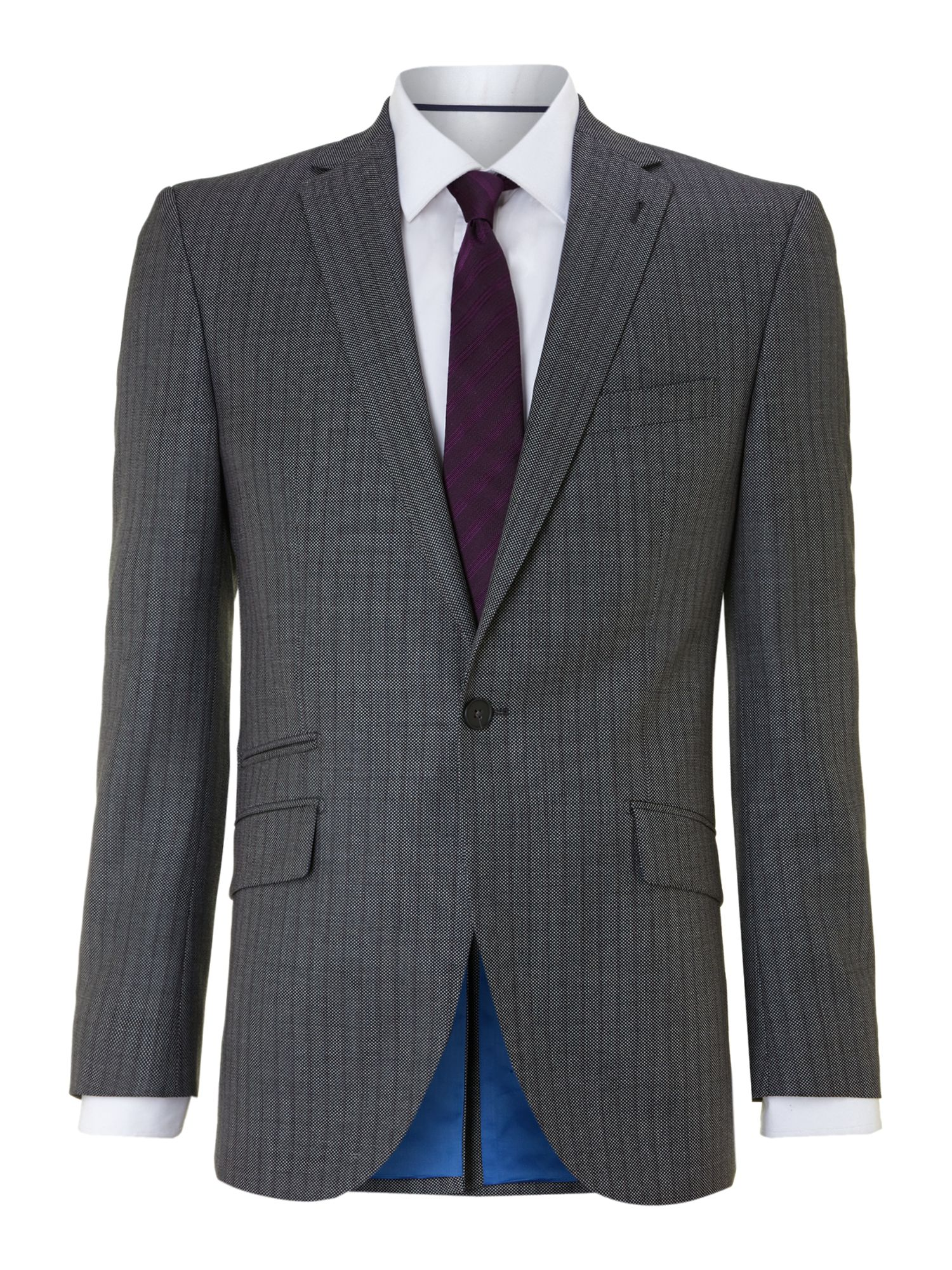 Kimberley birdseye stripe regular fit suit