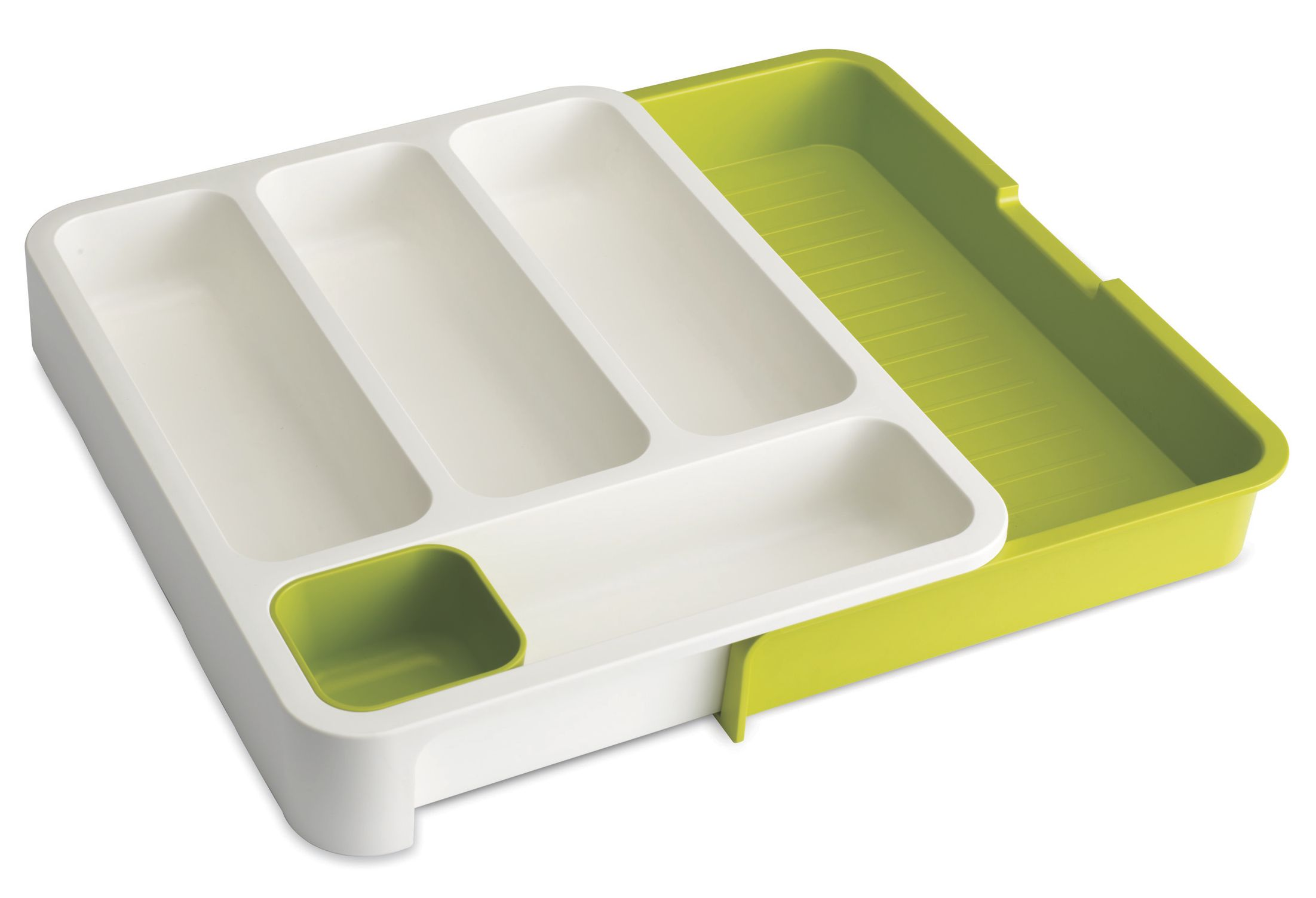Joseph Joseph DrawerStore Cutlery Drawer  WhiteGreen