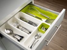 DrawerStore Cutlery Drawer - White/Green