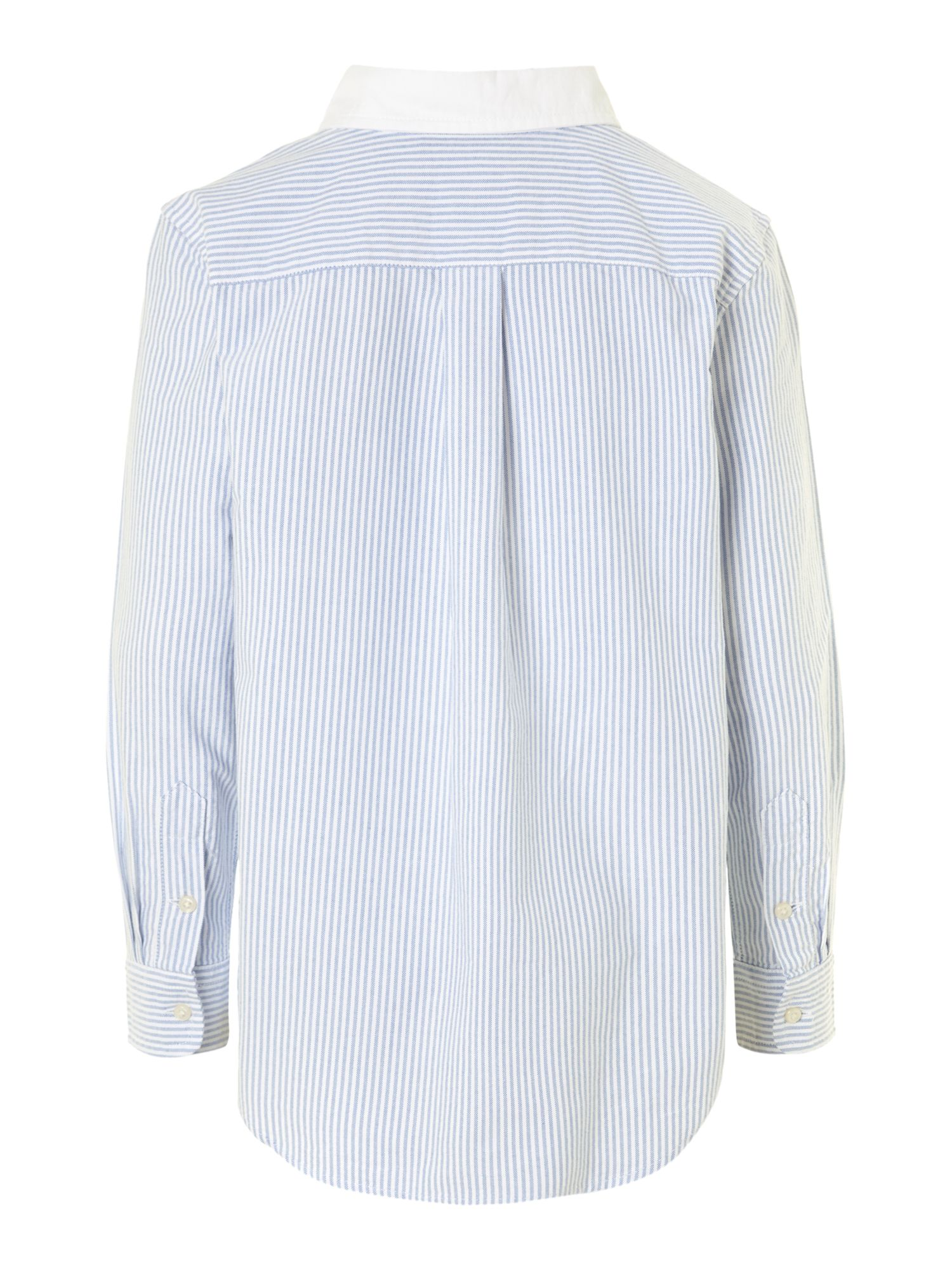 Boy`s long-sleeved oxford stripe shirt