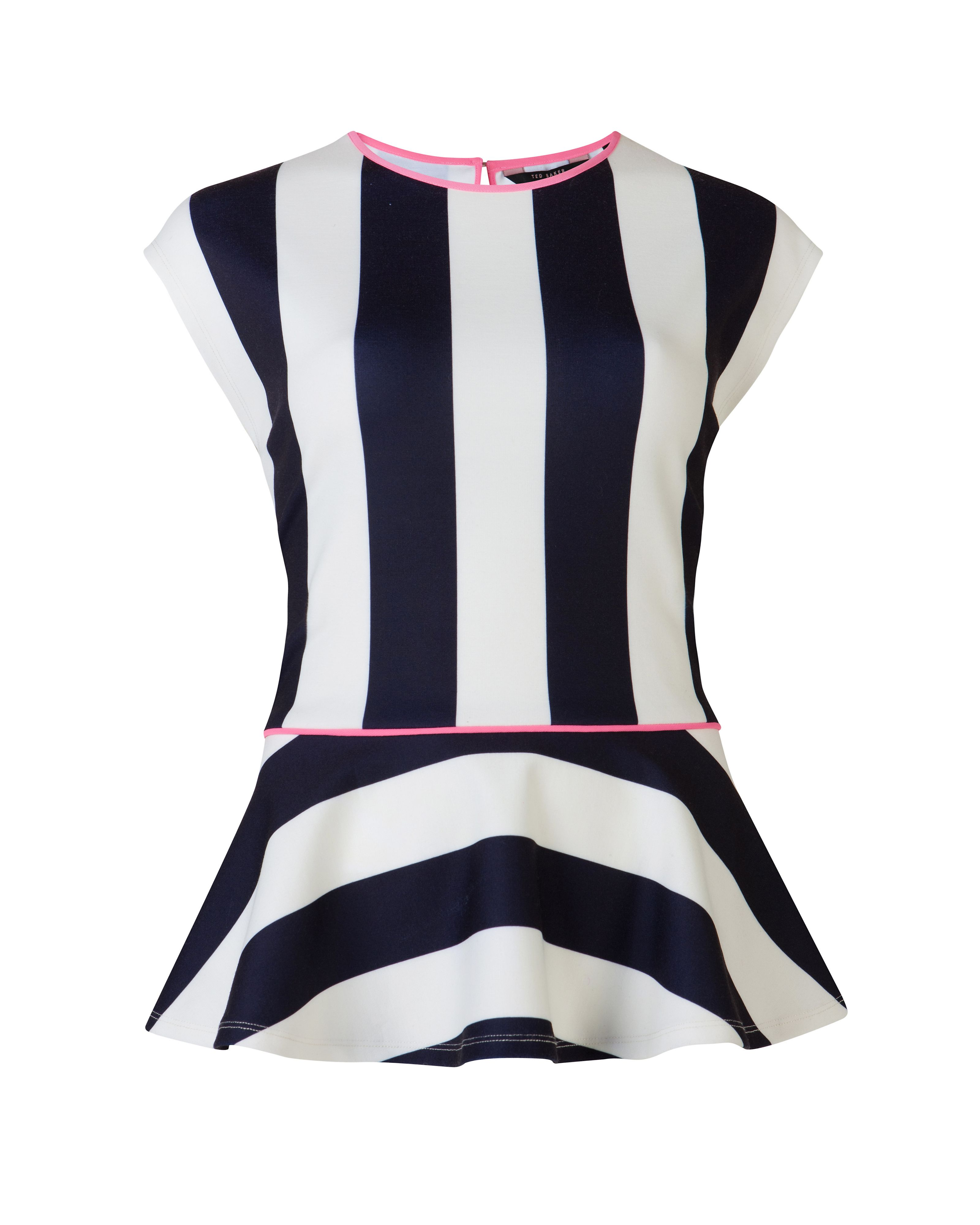 Kimbrly stripe peplum top