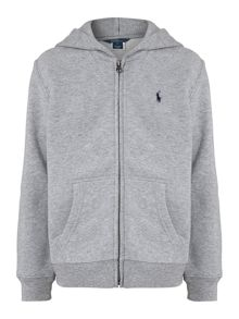 Polo Ralph Lauren Boy`s Zip-Through Small Pony Logo Hoody