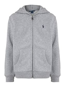 Polo Ralph Lauren Boy`s Zip-Through Small Pony Logo