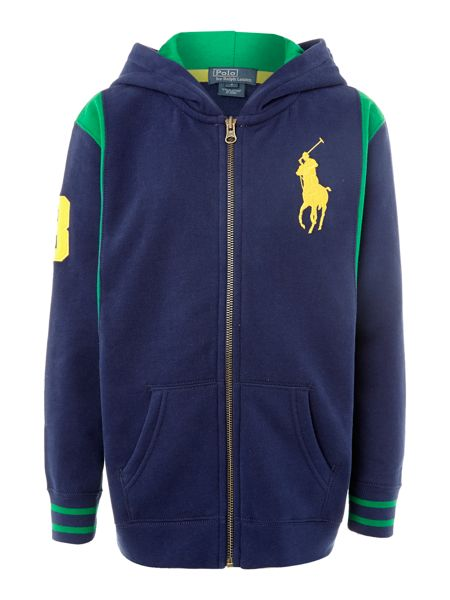 Polo Ralph Lauren Boy`s zip-through hoody with contrast sides