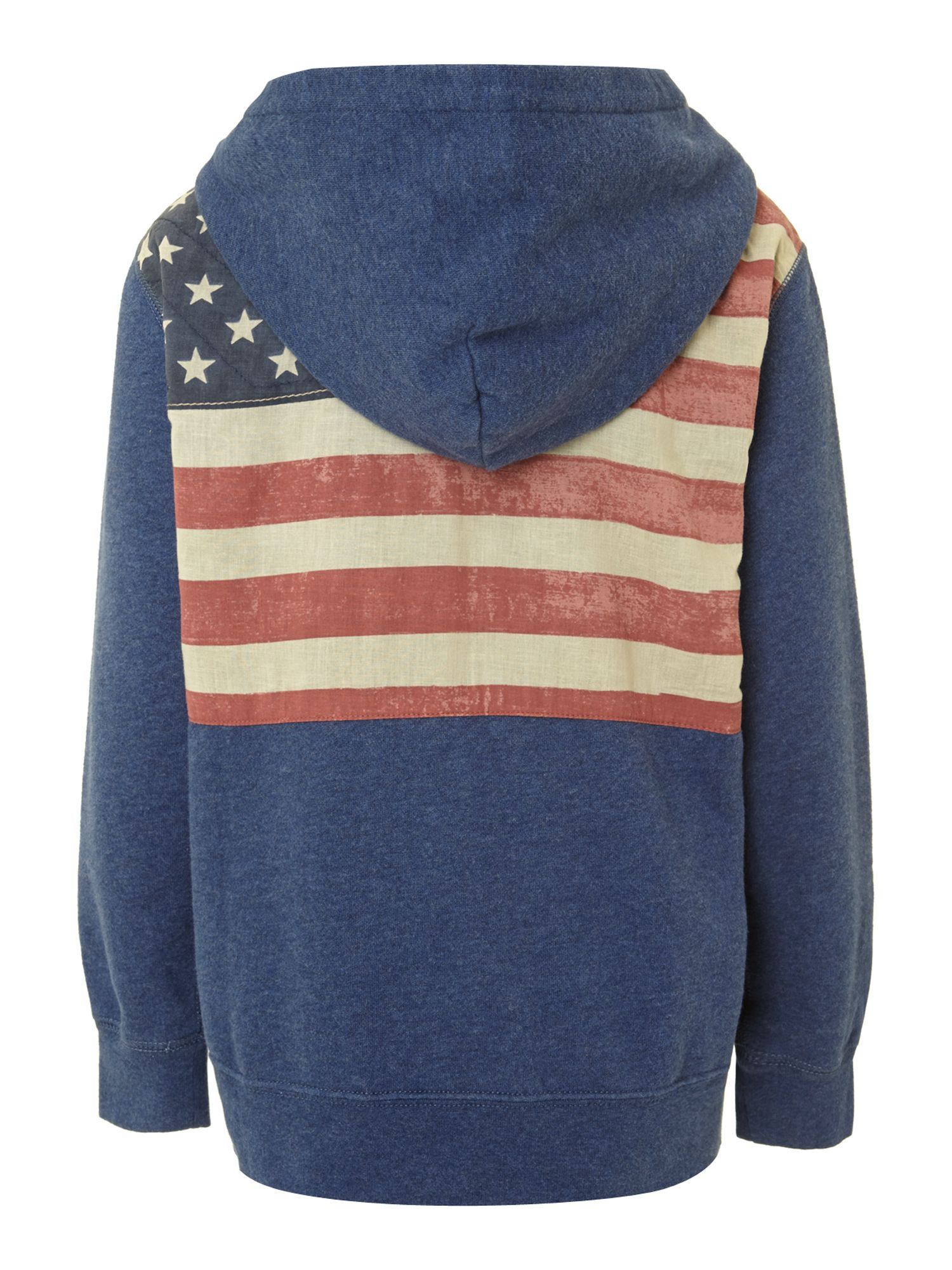Boy`s USA flag back graphic hoody