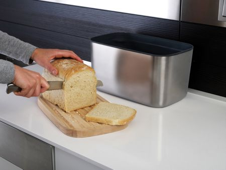 Joseph Joseph 100 Collection Stainless Steel Bread Bin