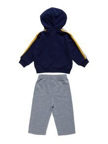 Baby boy`s hooded top and sweat pant set