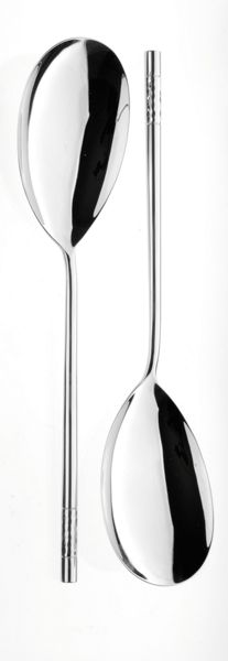 Arthur Price Feast stainless steel pair large serving spoons