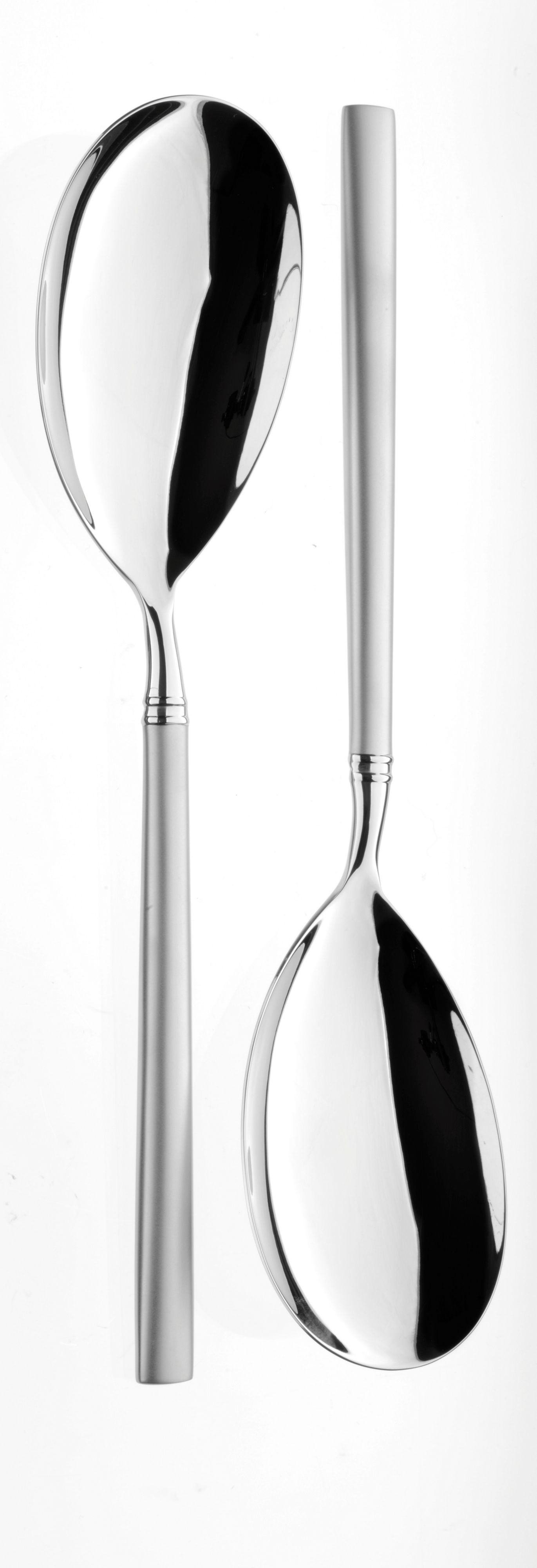 Orb stainless steel pair of large serving spoons
