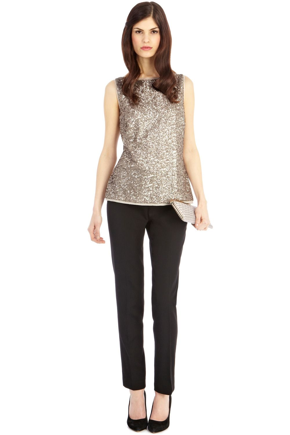 Odella sequin top