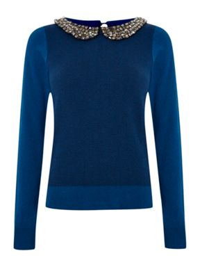 Dickins & Jones Beaded Collar Jumper