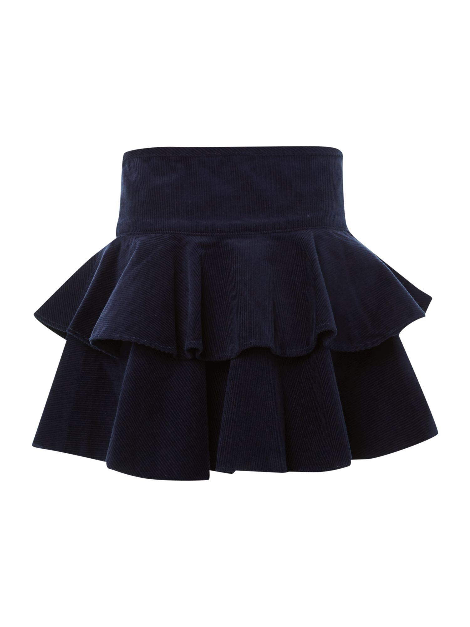Girl`s cord layered skirt