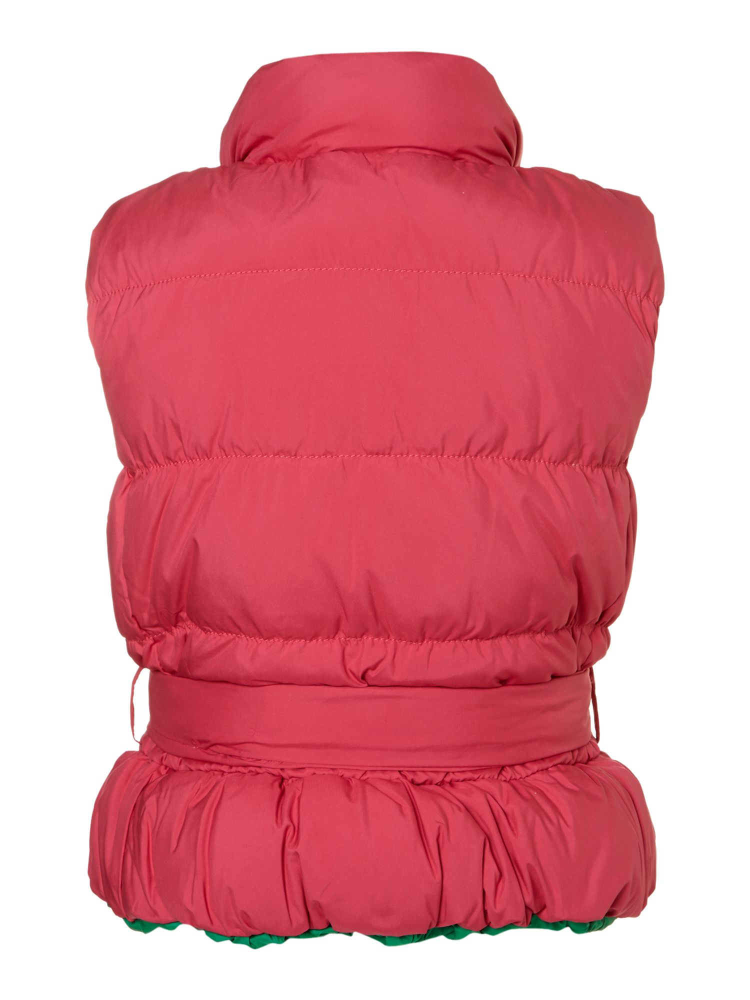 Girl`s padded gilet with tie waist