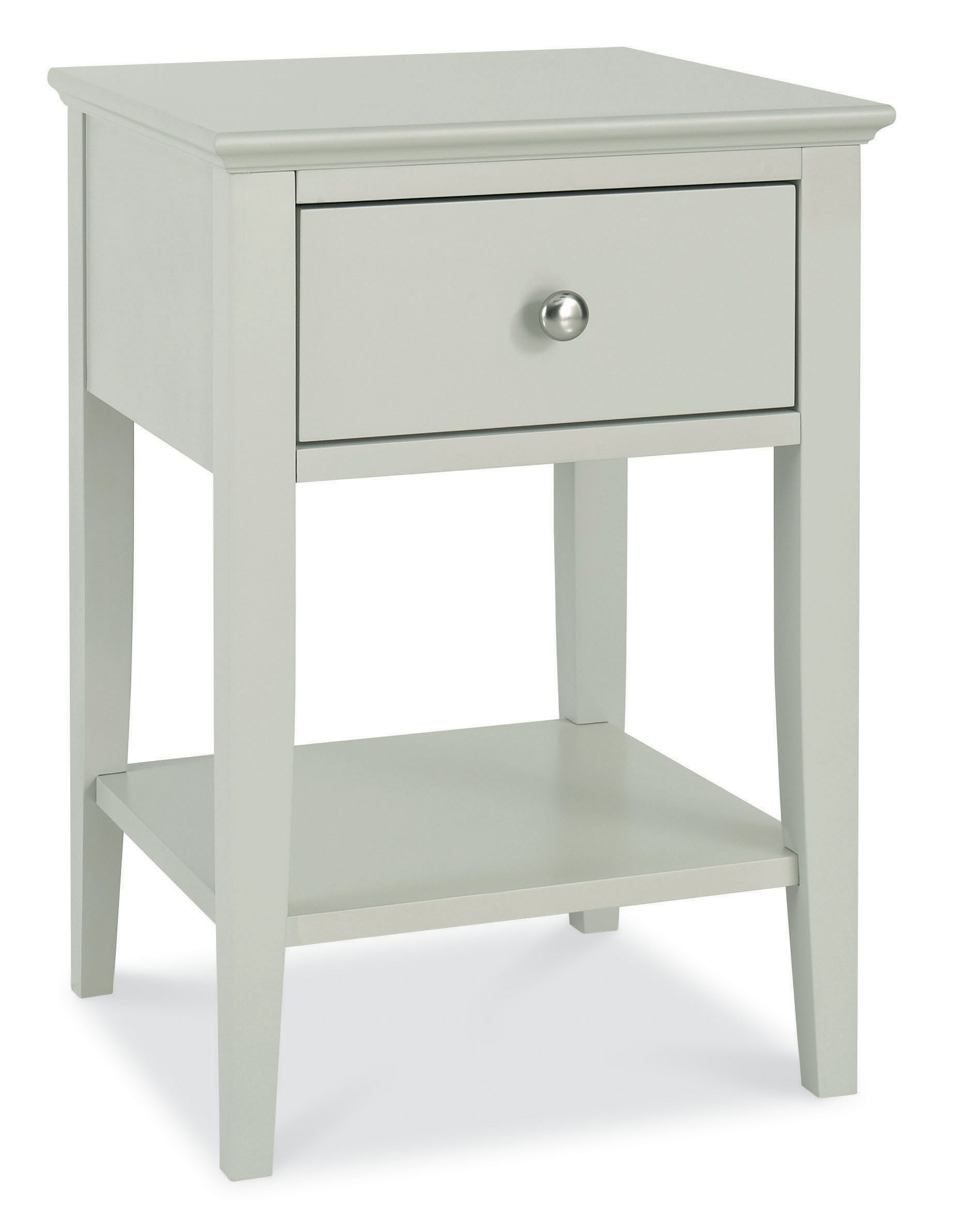 Cotton 1 drawer bedside chest