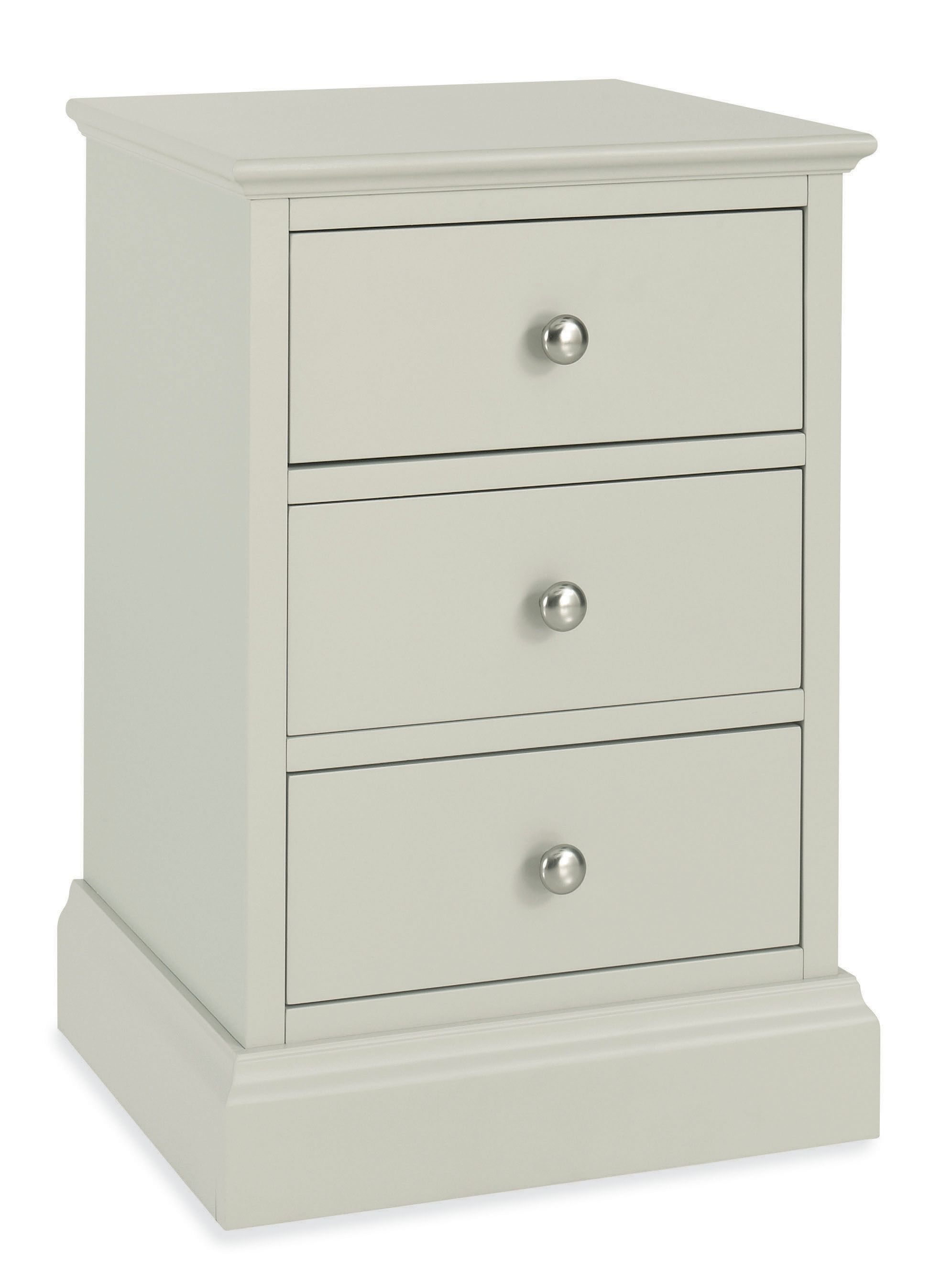 Cotton 3 drawer bedside chest