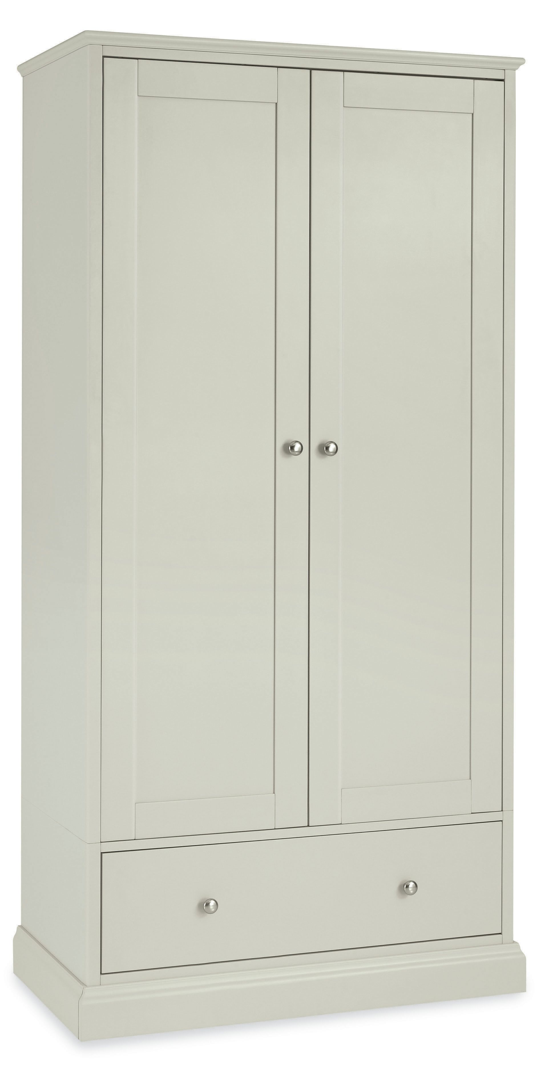 Cotton Double Wardrobe With Drawer