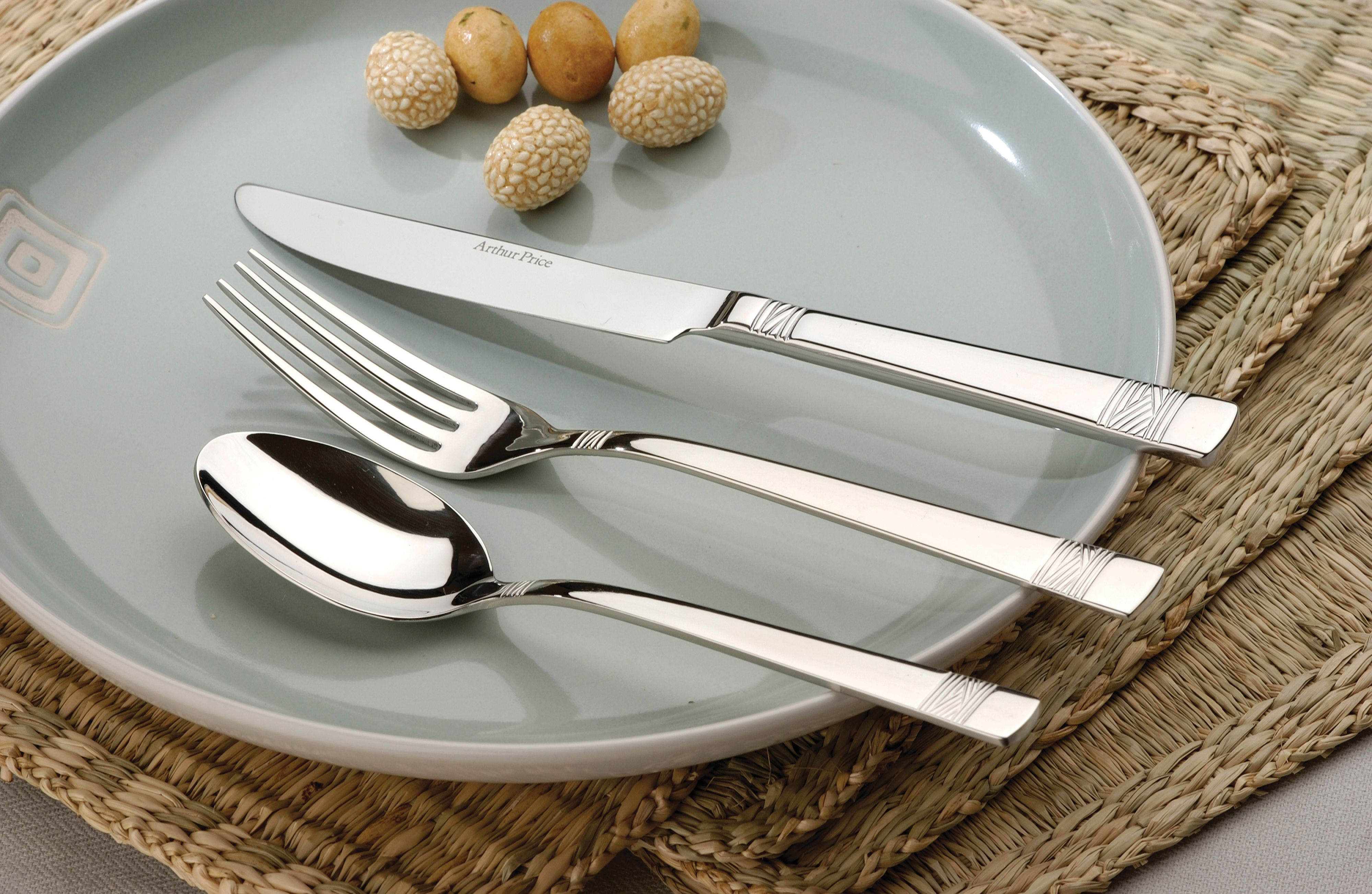 Fusion stainless steel 7 pce place setting