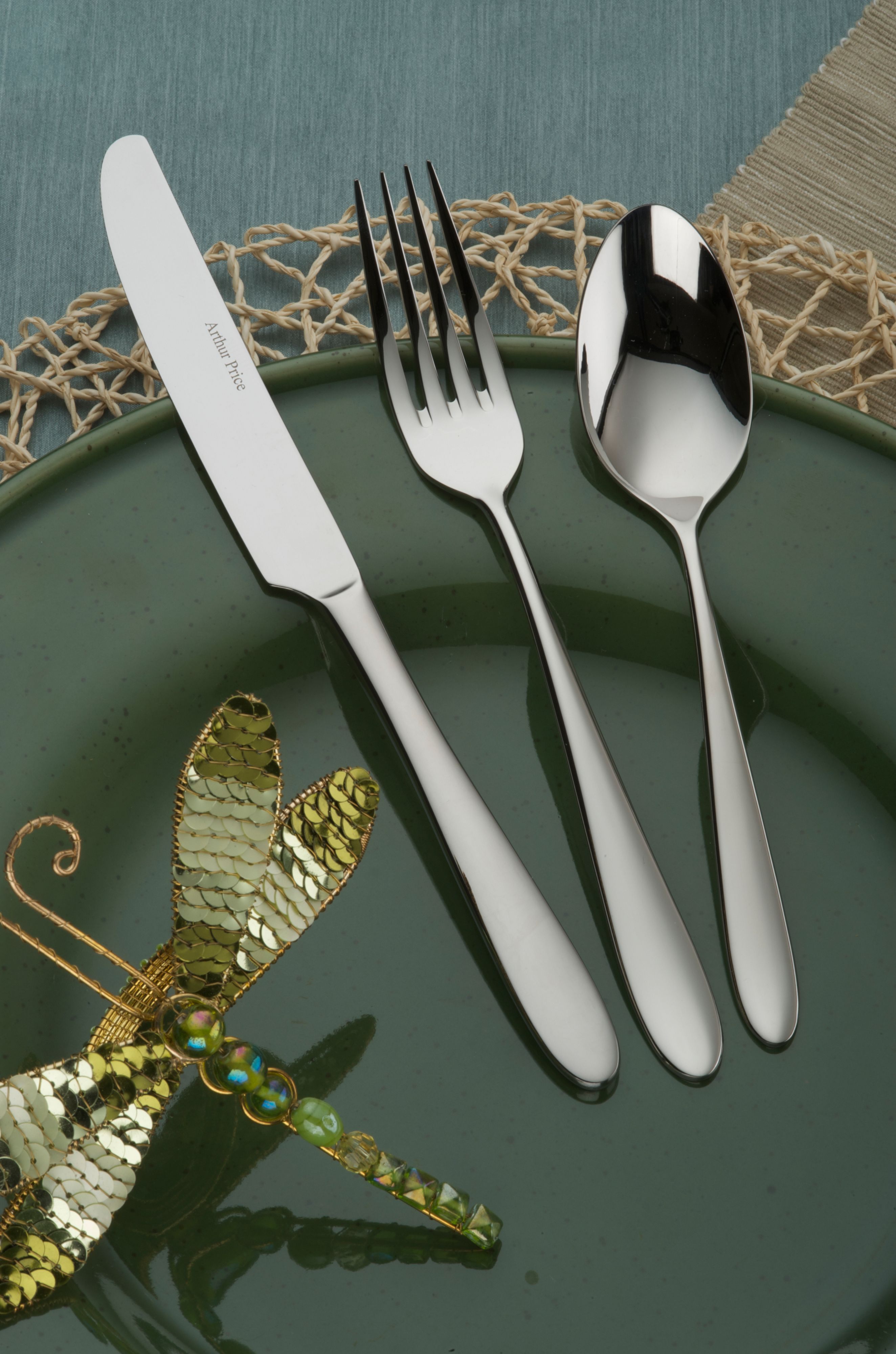 Willow stainless steel 7 pce place setting