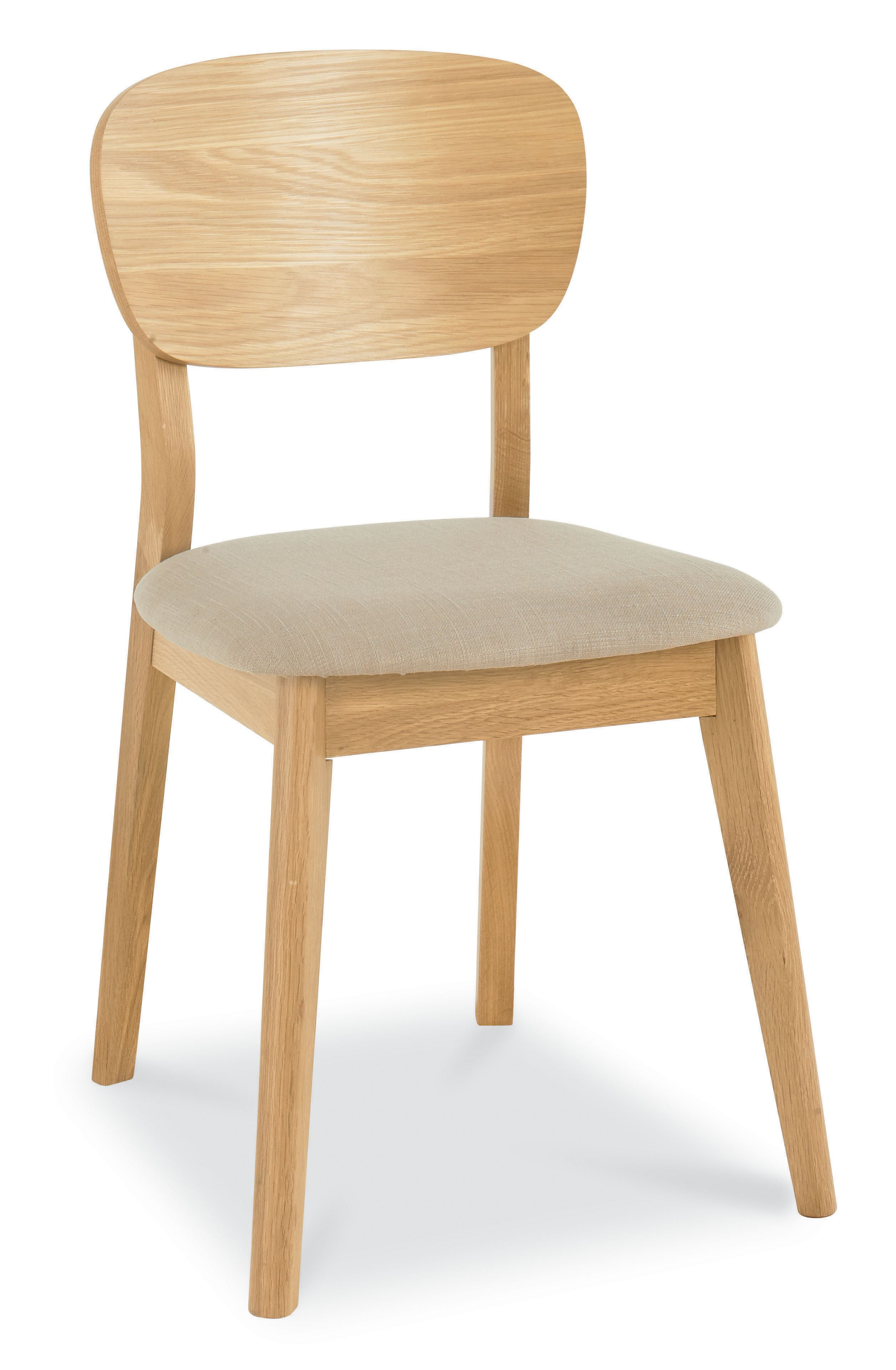Dean Oak veneered dining chair pair