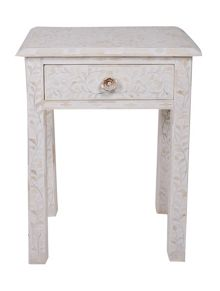 JASMINE CREAM 1 DRAWER BEDSIDE