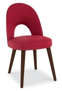 Dean walnut uphol chair pair