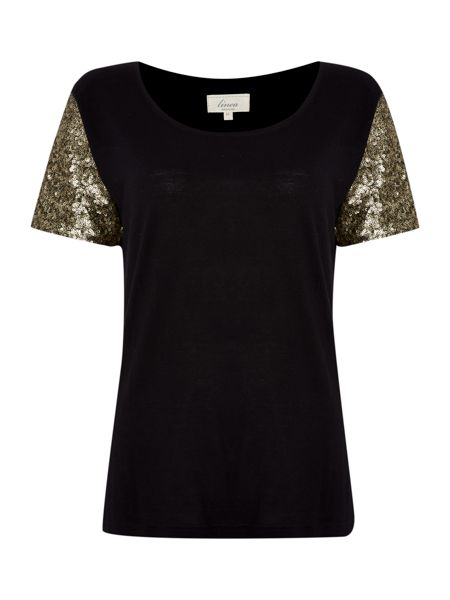 Linea Weekend Sequin sleeve top