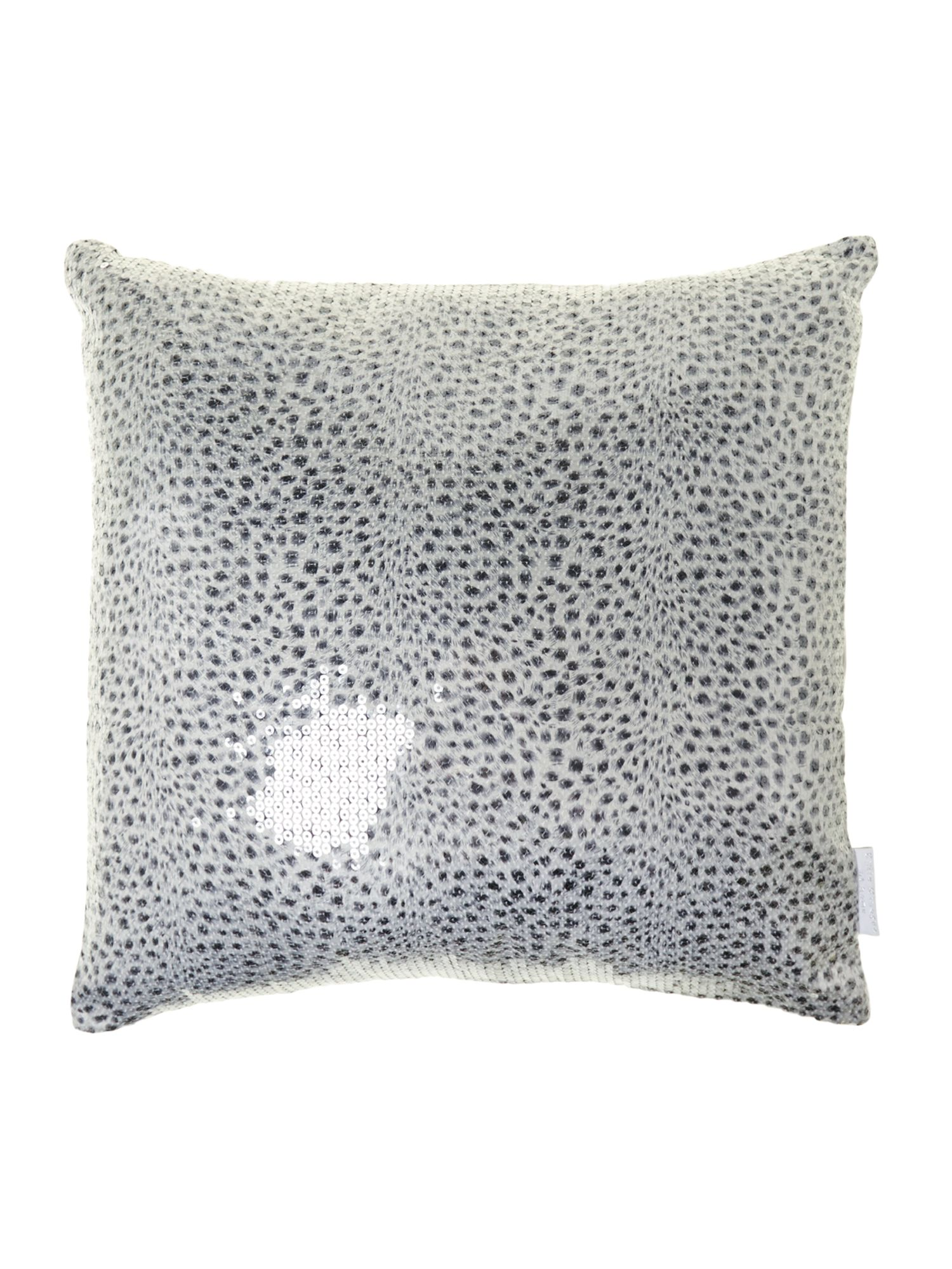 Leopard silver 45X45 cushion