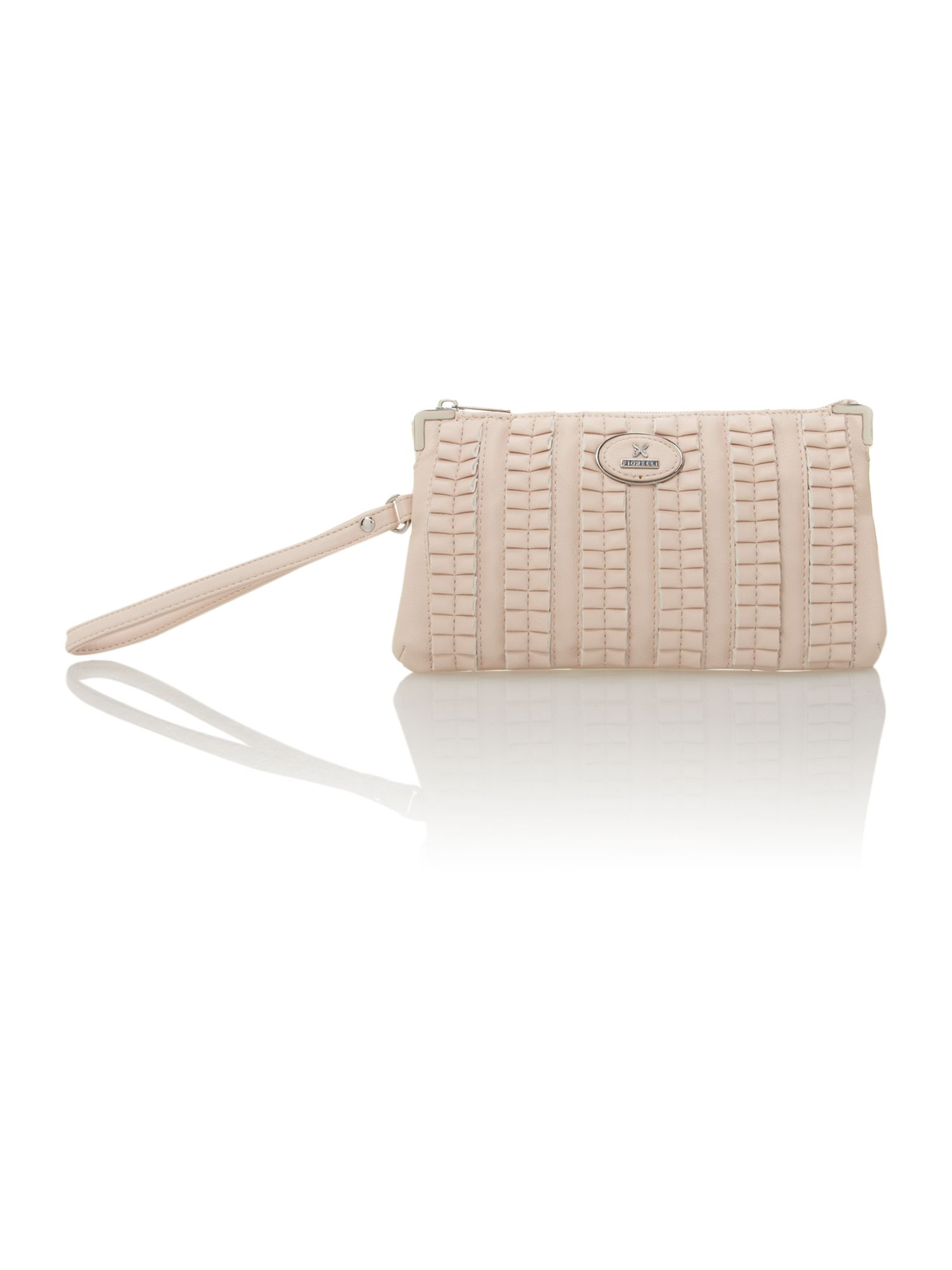 Neutral wristlet bag