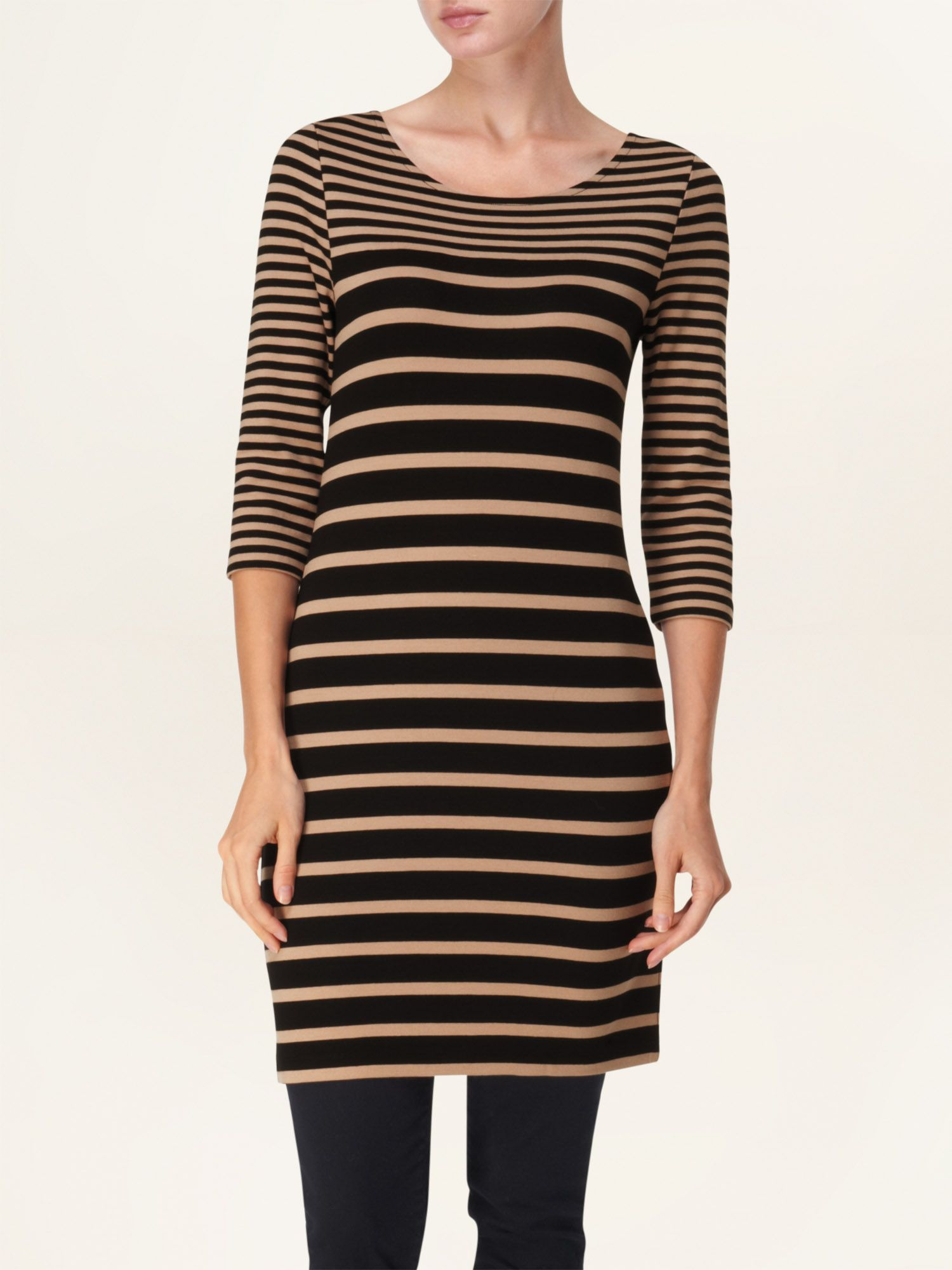 Gloria stripe ponte tunic
