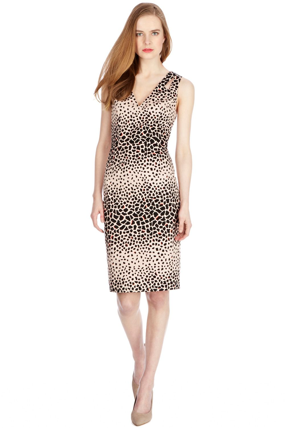 Animal print pencil dress