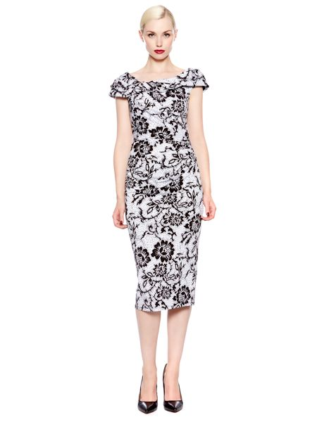 Pied a Terre Lace print slinky knot dress