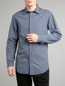Smart casual mini check regular fit shirt