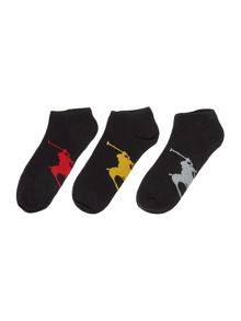 Polo Ralph Lauren 3 pack polo pony trainer sock