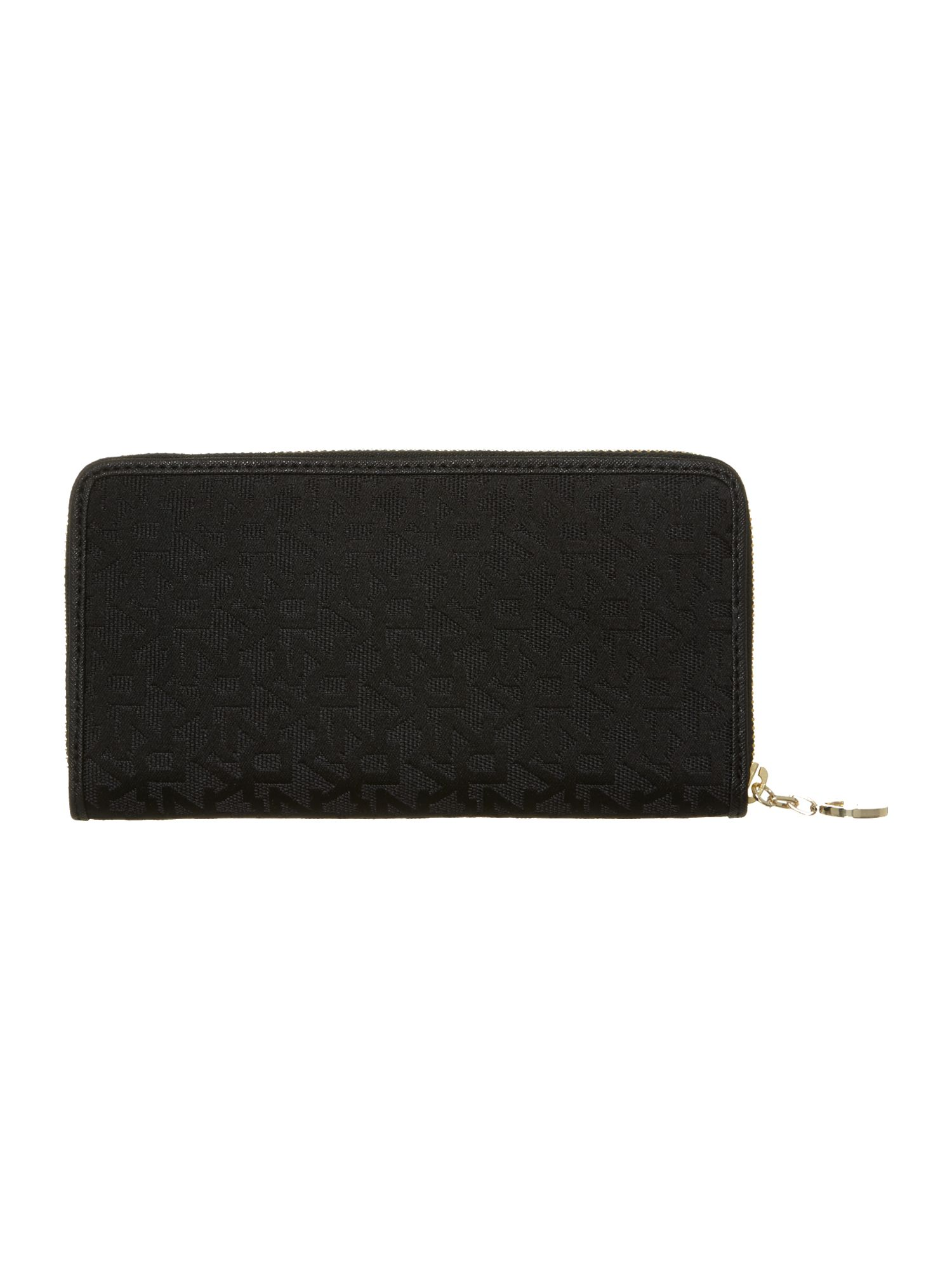 Black large zip round purse