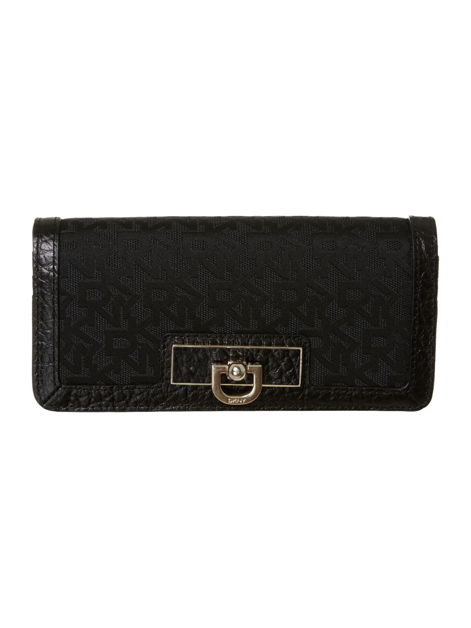 Black large flapover purse