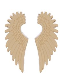 Pegasus earrings gold