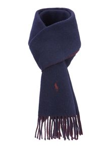 Solid reversible scarf