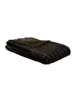 Zorina black throw 130x220