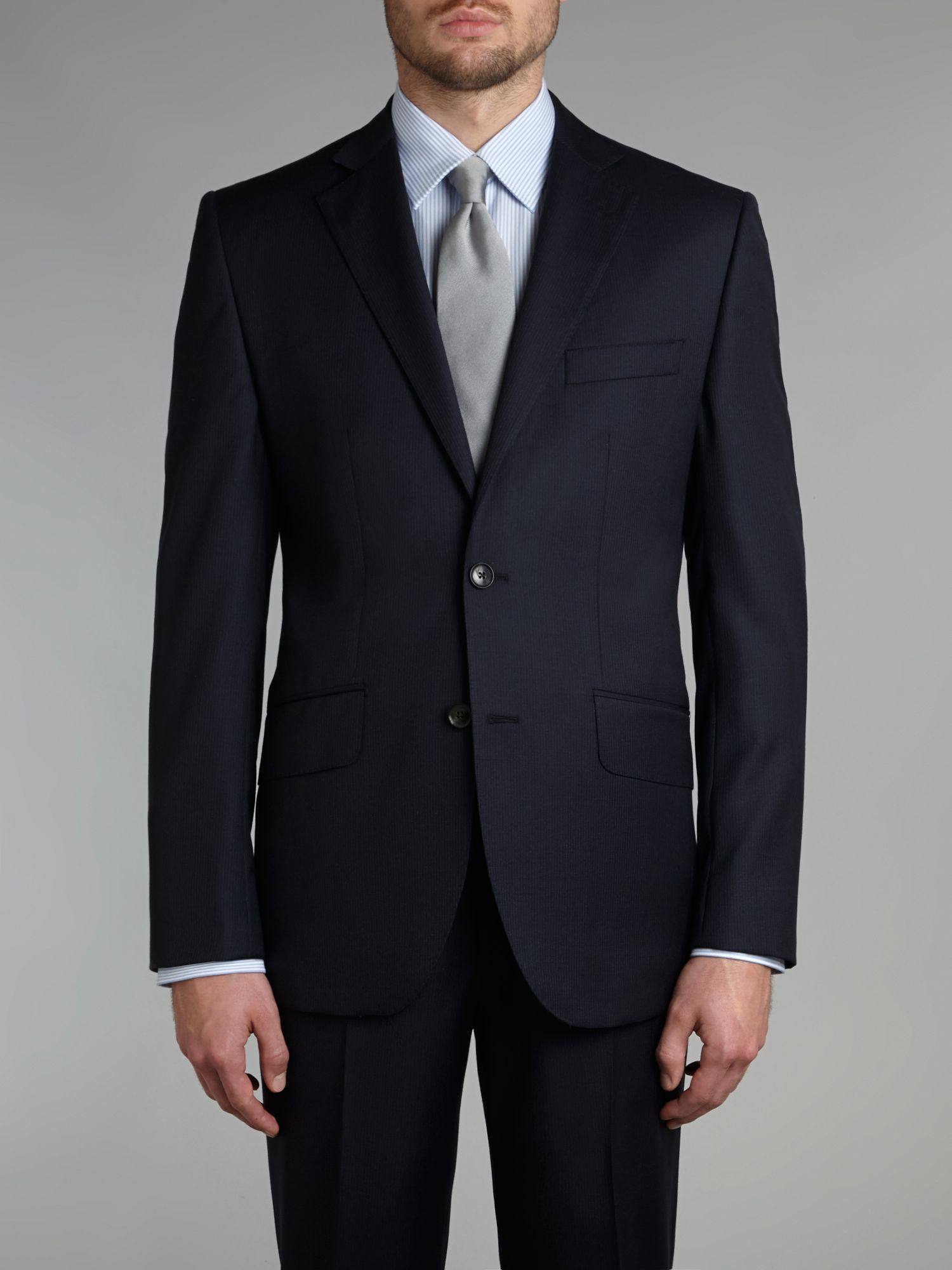 Fine stripe regular fit suit jacket