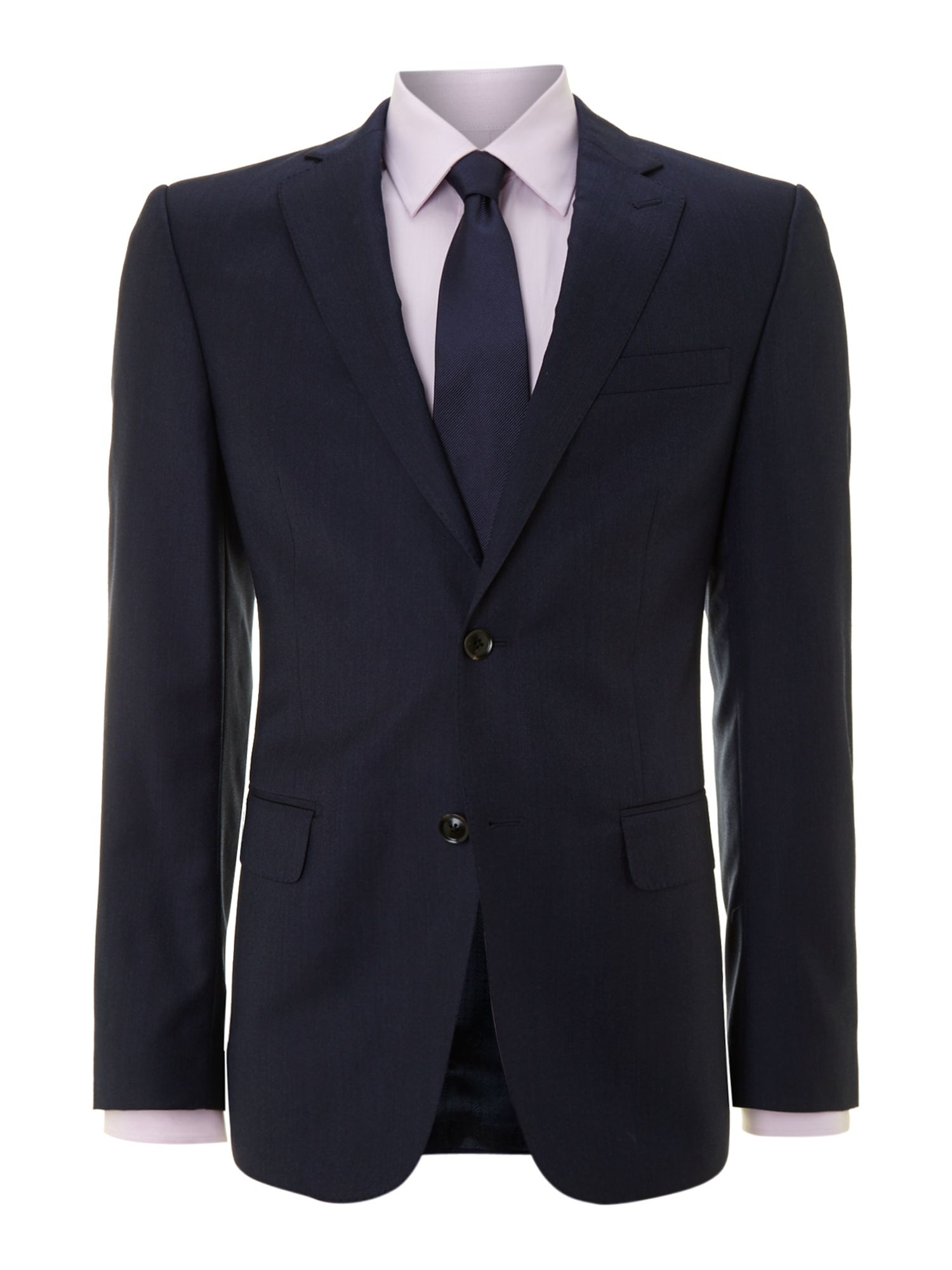 Pindot slimfit suit jacket with peak lapels