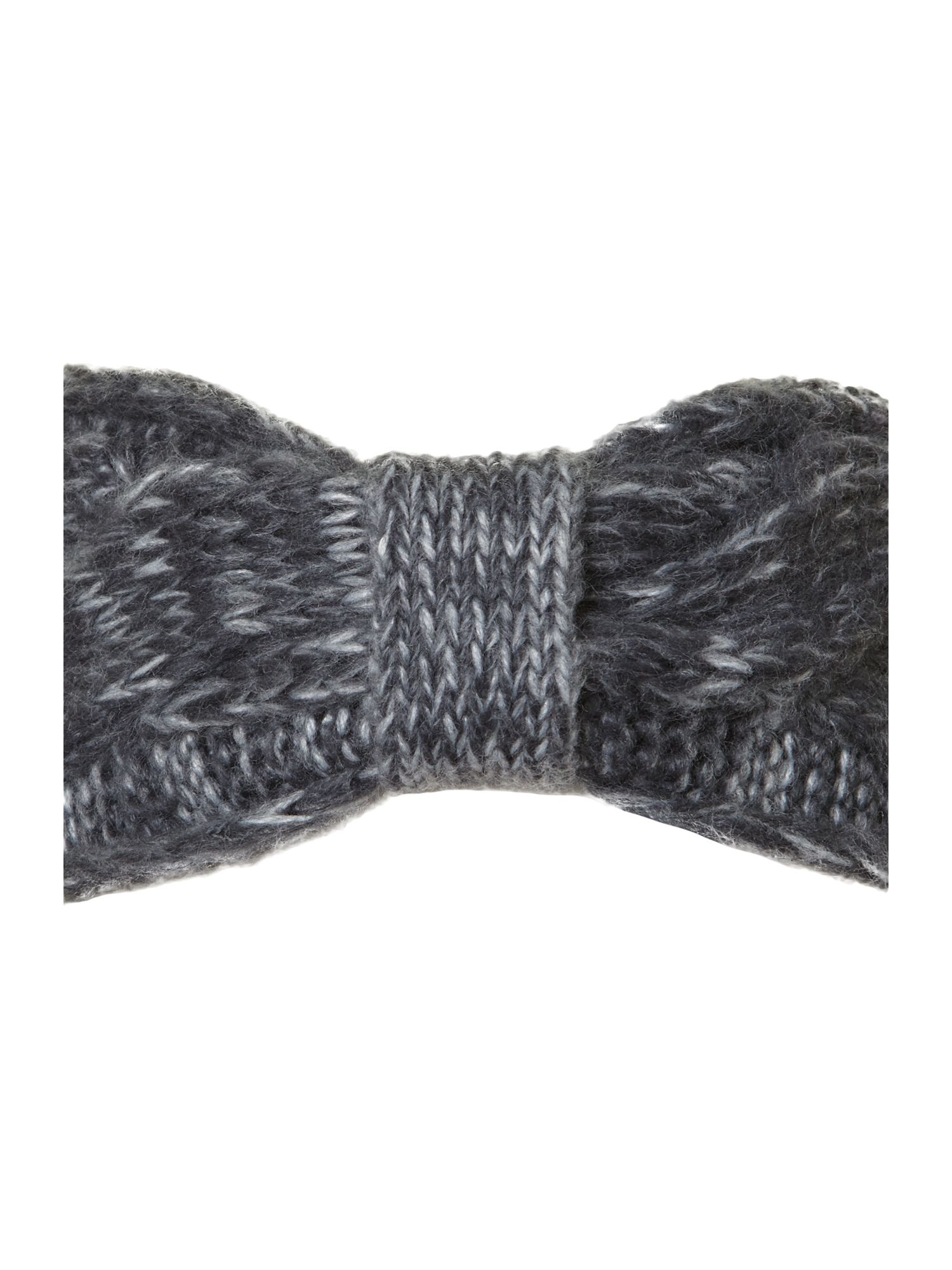 Bicolour cable knit headwarmer