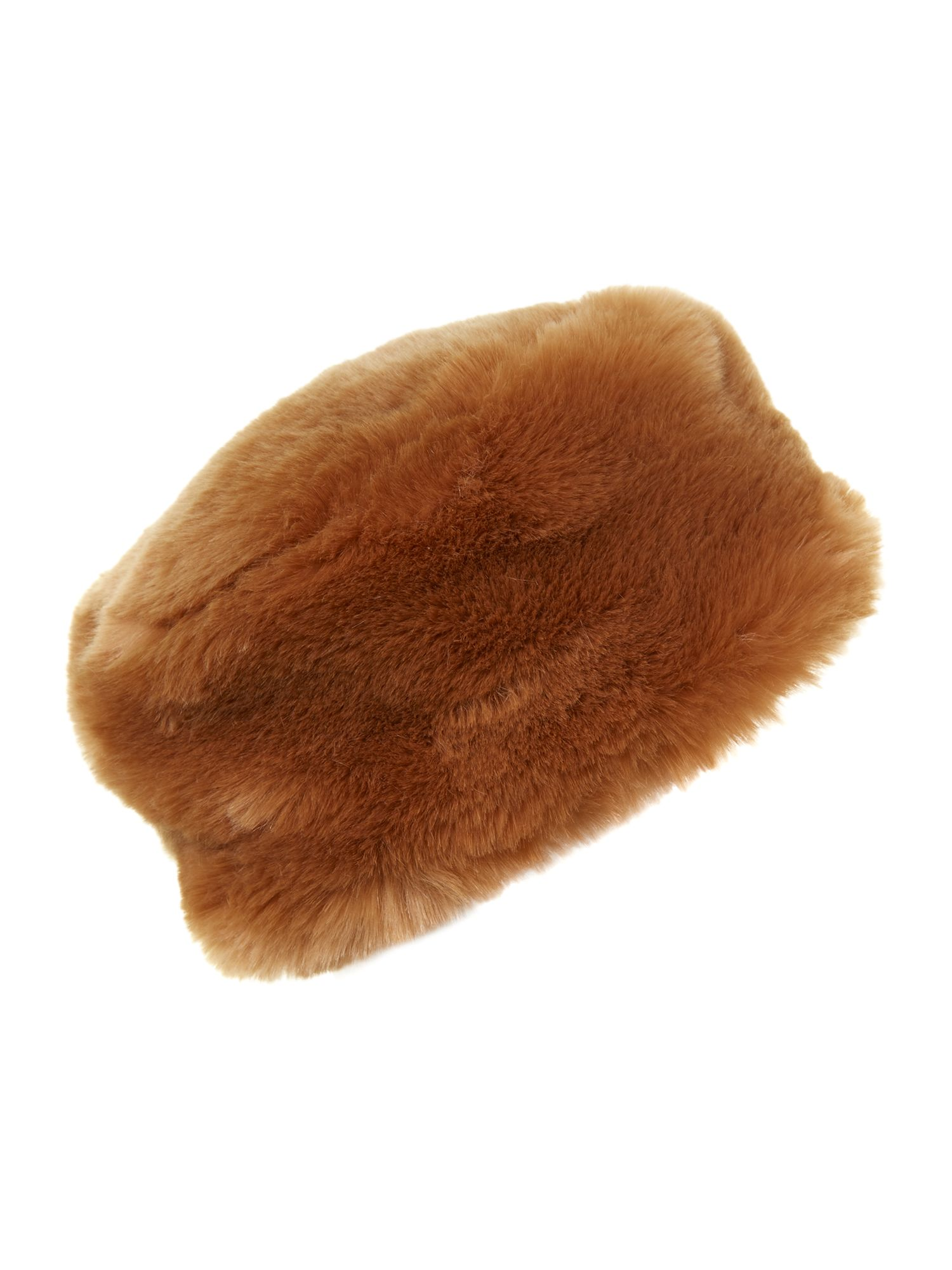 Faux fur cossack hat natural