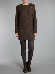 Knitted lurex alpaca mix dress