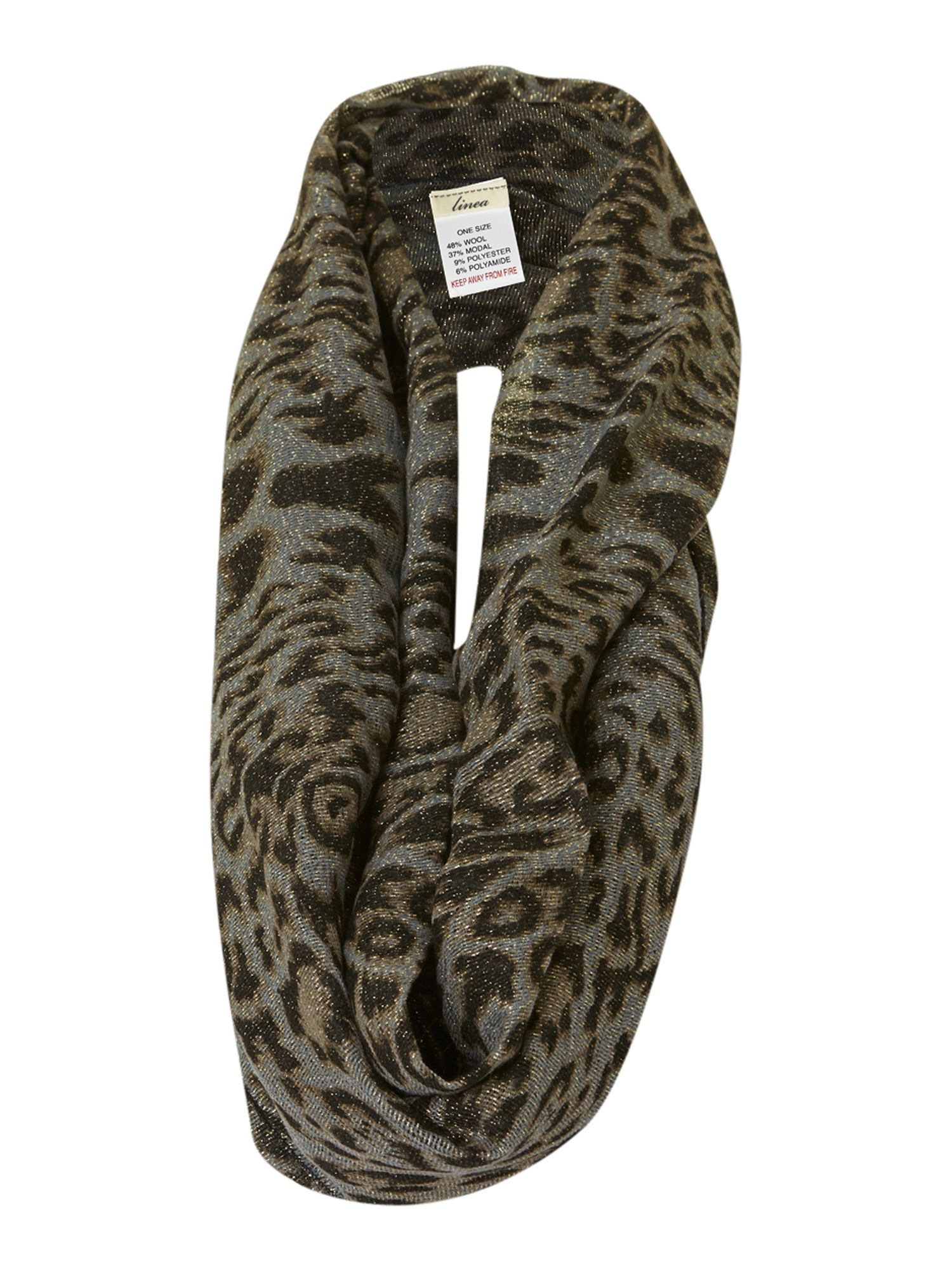 Lurex leopard snood